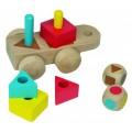 Beleduc lavinamasis žaislas - Medinis Formų traukinukas (18007)