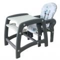 ALEXIS Transformuojama maitinimo kėdutė - staliukas UR-DC-01 pilkos spalvos nuotrauka nr.3