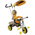 ALEXIS 18819 triratukas su rankena ir stogeliu geltonos spalvos***