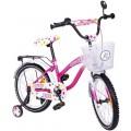 """ELGROM 1801 vaikiškas dviratis TOMABIKE EX. 18"""" rausvas-baltos spalvos nuotrauka nr.2"""