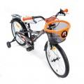 Vaikiškas dviratis 4Kids Camo Boy oranžinis