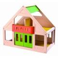"""PlanToys lavinimo priemonė - žaislas """"Mano pirmasis spalvotas lėlių namelis"""" (PT7601)"""