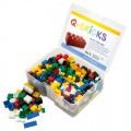 Q-Bricks rinkinys - Miksas bazinės spalvos, 300 vnt.