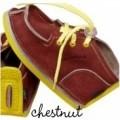 GUCIO vasariniai vaikiški batukai, didelėm skylėm-Riešuto spalvos (chestnut)