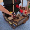 KIDKRAFT medinė piratų tvirtovė ir laivas