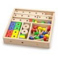 Viga Toys medinių kaladėlių rinkinys