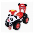 Paspirtukas - mašinytė Panda raudonas