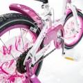 Vaikiškas dviratis 4-8 metų mergaitėms Betty, baltas-rožinis