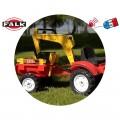 FALK RANCH traktorius - krautuvas- ekskavatorius su priekaba, raudonas nuotrauka nr.1