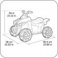 Feber akumuliatorinis keturratis Quad Wagon 12V