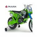 INJUSA Kawasaki Cross 6V elektrinis motociklas, tylūs ratai