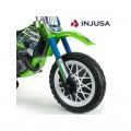 INJUSA Kawasaki Cross 6V elektrinis motociklas, tylūs ratai nuotrauka nr.1