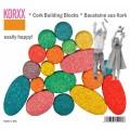 Spalvotų kamštmedžio kaladėlių rinkinys Korxx Kuller C Mix (79028)
