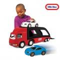 Little tikes didelis automobilių tralas + du keleiviniai automobiliai nuotrauka nr.2