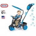 Little Tikes NEON Blue Vairuojamas triratukas su tyliais ratukais