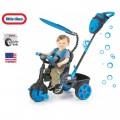 Little Tikes NEON Blue Vairuojamas triratukas su tyliais ratukais nuotrauka nr.4