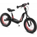 Y balansinis dviratis LR XL su stadžiais, juodas, pripučiamos padangos