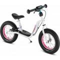 Y balansinis dviratis LR XL su stadžiais, baltas, pripučiamos padangos