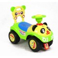 Paspirtukas - mašinytė Panda geltonas