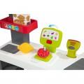 Smoby Raudonasis Supermarketas - elektroninė kasa su šviesa, garsais, 42 aksesuarais, vežimėliu