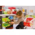 Smoby Raudonasis Supermarketas - elektroninė kasa su šviesa, garsais, 42 aksesuarais, vežimėliu nuotrauka nr.1