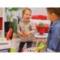 Smoby Raudonasis Supermarketas - elektroninė kasa su šviesa, garsais, 42 aksesuarais, vežimėliu nuotrauka nr.2