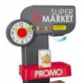 Smoby Raudonasis Supermarketas - elektroninė kasa su šviesa, garsais, 42 aksesuarais, vežimėliu nuotrauka nr.3