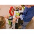 Smoby Raudonasis Supermarketas - elektroninė kasa su šviesa, garsais, 42 aksesuarais, vežimėliu nuotrauka nr.4