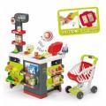Smoby Raudonasis Supermarketas - elektroninė kasa su šviesa, garsais, 42 aksesuarais, vežimėliu nuotrauka nr.5