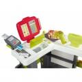 Smoby Raudonasis Supermarketas - elektroninė kasa su šviesa, garsais, 42 aksesuarais, vežimėliu nuotrauka nr.8
