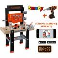 SMOBY Balck Decker Bricolo Center didelis žaislinis darbastalis su 91 aksesuaru ir grąžtu nuotrauka nr.4