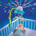 Smoby karuselė virš lovytės su Cotoons projektoriumi, mėlyna