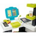 Smoby Market Elektroninis kasos aparatas -žaislinė parduotuvė su šviesomis, garsais ir 34 priedais nuotrauka nr.1