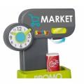 Smoby Market Elektroninis kasos aparatas -žaislinė parduotuvė su šviesomis, garsais ir 34 priedais nuotrauka nr.5