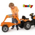 SMOBY minamas traktorius MAX su priekaba ir kaušais nuotrauka nr.2