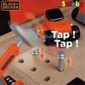 SMOBY Balck Decker Black&Decker Bricolo Utimate didelis žaislinis darbastalis su 95 aksesuarais ir grąžtu nuotrauka nr.4