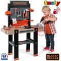 SMOBY Balck Decker Black&Decker Bricolo Utimate didelis žaislinis darbastalis su 95 aksesuarais ir grąžtu nuotrauka nr.5