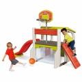 Smoby daugiafunkcijinė žaidimų aištelė su čiuožyykla, krepšiio stovu, nameliu ir staliuku nuotrauka nr.1