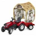 Pedalinis traktorius Falk Garden Master su priekaba komplekte su palapine