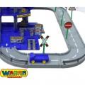 Wader didelis 4 aukštų garažas Auto Park su 3 automobiliukais ir plovykla 44723