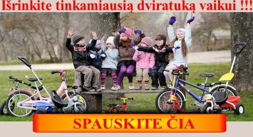 Geriausi vaikiški dviračiai